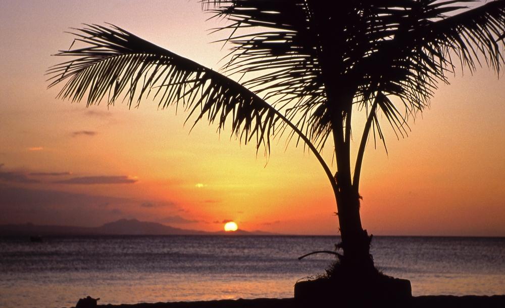 Sonnenuntergang in der Karibik